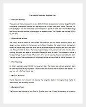 Free-Interior-Business-Plan-Template