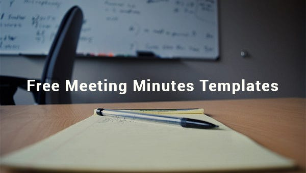 free meeting minutes templates