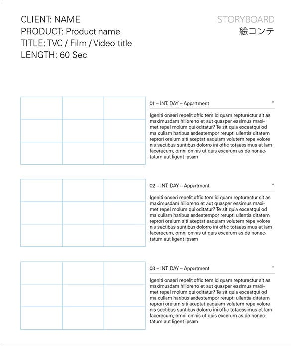 Movie Storyboard Template 8 Free Word Excel Pdf Ppt Format