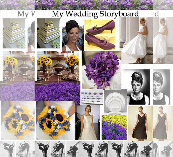 free my wedding storyboard template example