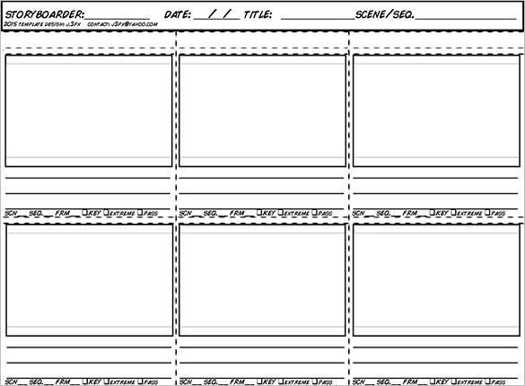free new animation storyboard template for 2015 sample