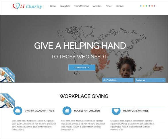 free one page responsive non profit template1
