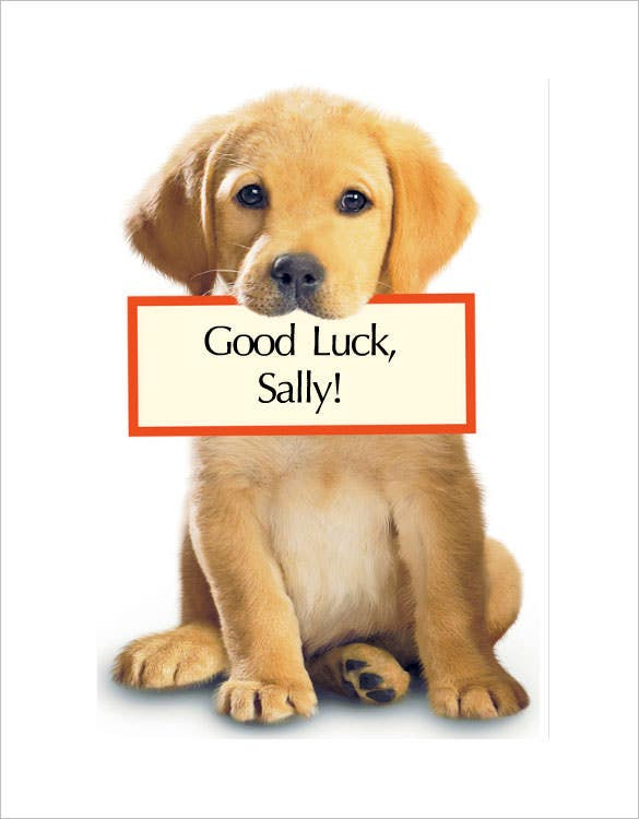 free online editable good luck card template