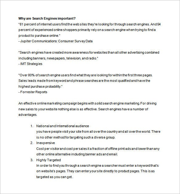 free online marketing proposal download