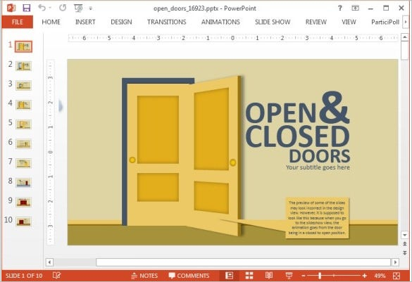free open and closed infographic template