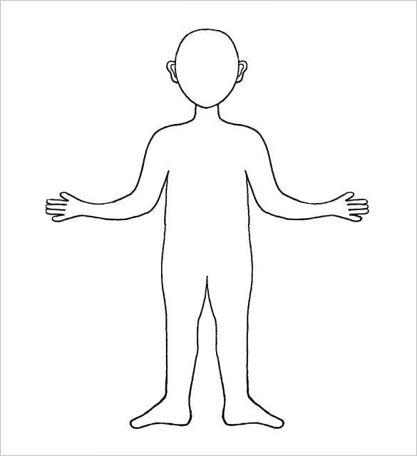It is a photo of Persnickety Printable Human Body Outline Template Pdf