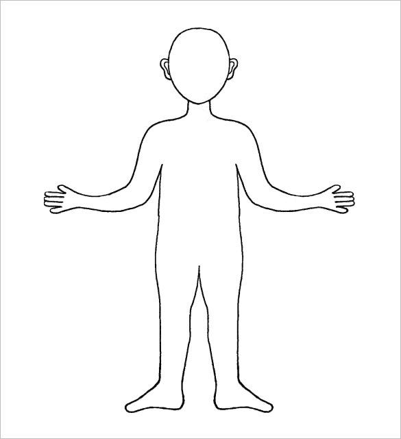 free pdf blank body outline