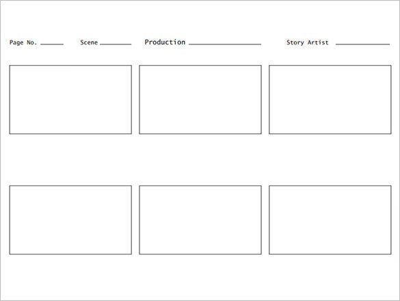 storyboard pdf 7  Movie StoryBoard Templates - DOC, Excel, PDF, PPT | Free ...