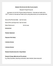 free phd medical research proposal