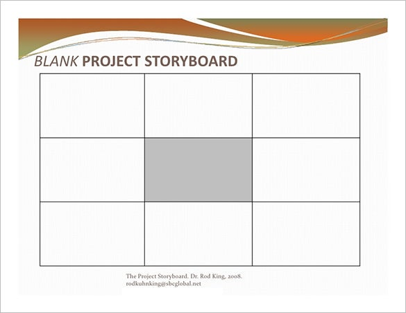 Project Storyboard Template   Free Sample Example Format