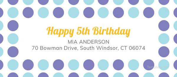 free printable birthday address label template