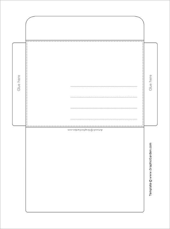 Envelope Template – 68+ Free Printable PSD, PDF, EPS, Word, Excel ...