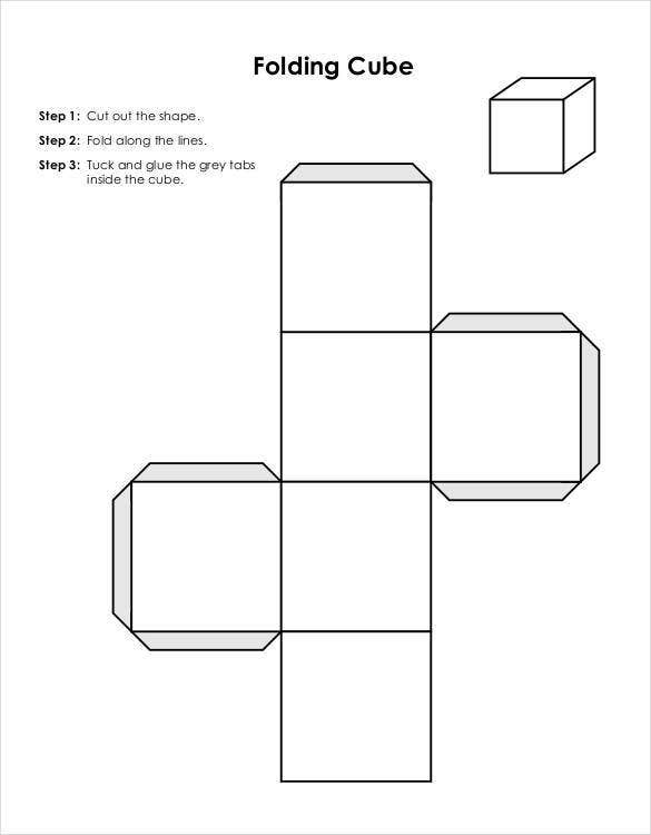 Paper Cube Template 18 Free Word Pdf Documents Free