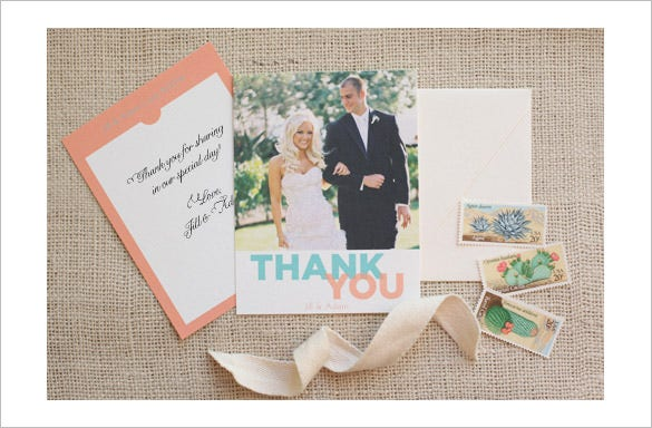 free printable thank you card for wedding photographer