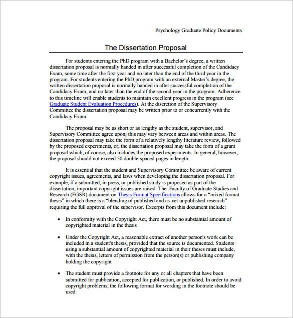 sample dissertation proposal
