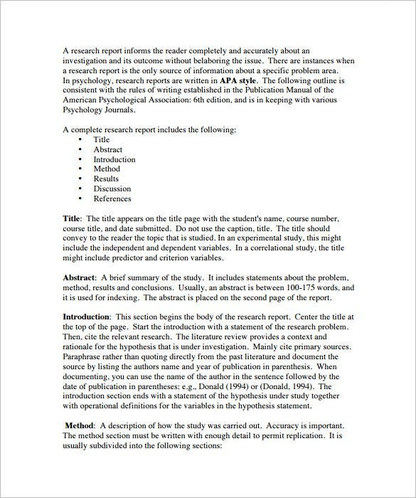 Buy Apa Research Paper Template Word