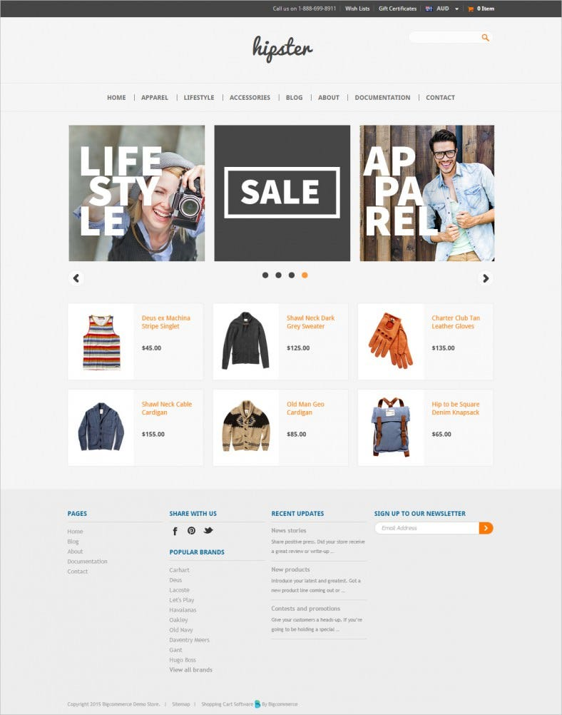 Free Responsive Website Template for Ecommerce