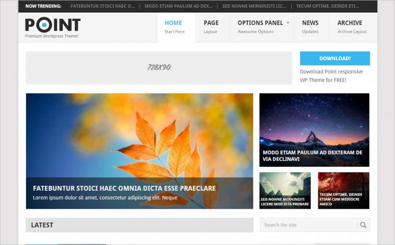 free responsive wordpress multi purpose theme 788x488