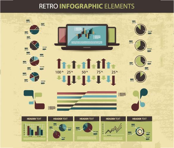 free retro infographic elements download1