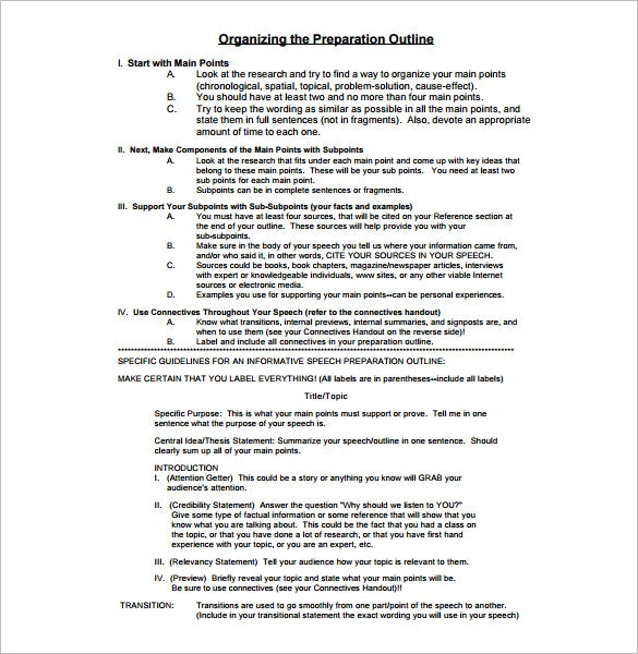 presentation outline template - 26+ free sample, example, format, Powerpoint templates