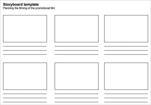 free simple printable film storyboard template sample