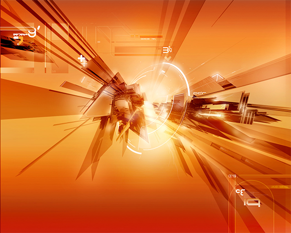 free tech orange background download