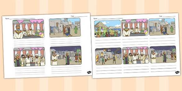 free wedding feast storyboard template