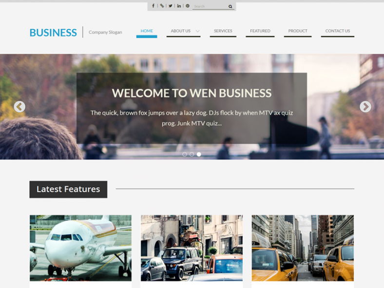 Free WordPress Corporate Template