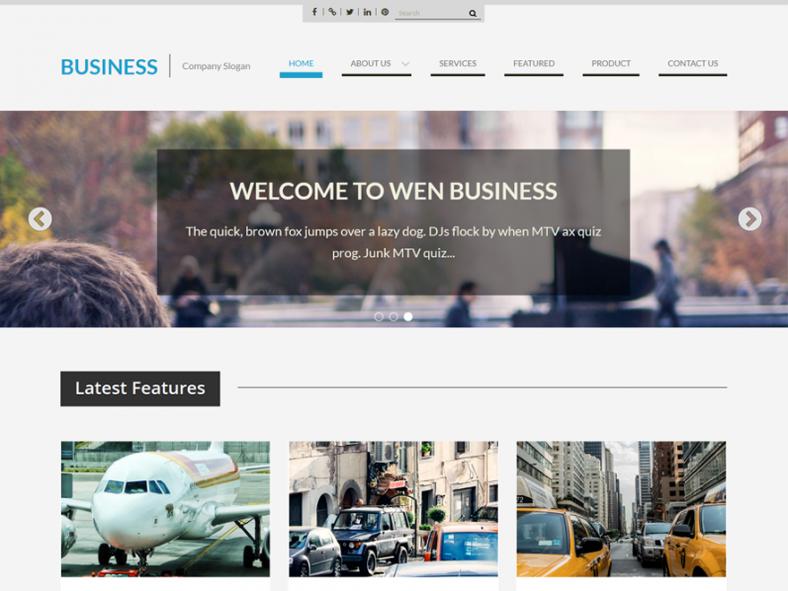 free wordpress corporate template 788x591
