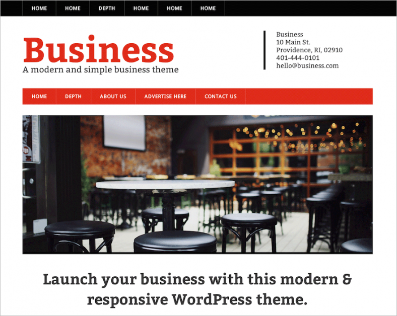 free wordpress theme for modern business 788x628