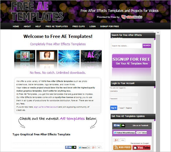 after effects templates free download - 9 free websites to download after effects free