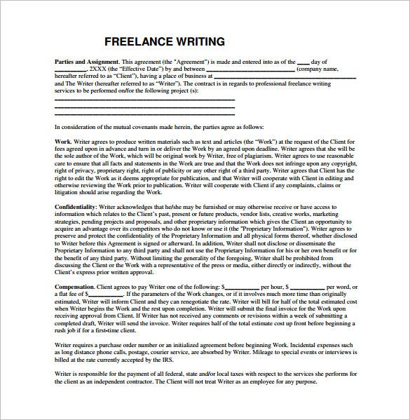 16 writing proposal templates free sample example format freelance writing proposal example template pronofoot35fo Images