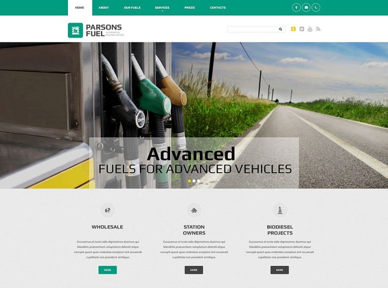 Fuel Industrial Website Template