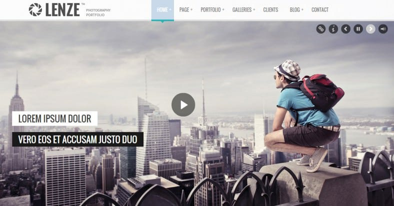 full screen gallery photography html template 788x412
