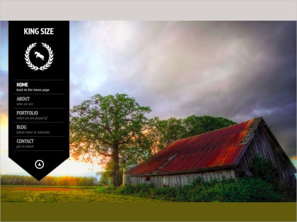 fullscreen photography template
