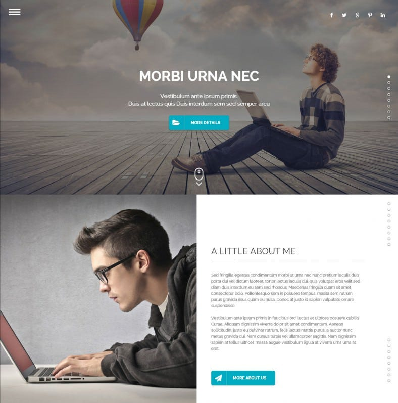 Fullpage Portfolio WordPress Theme