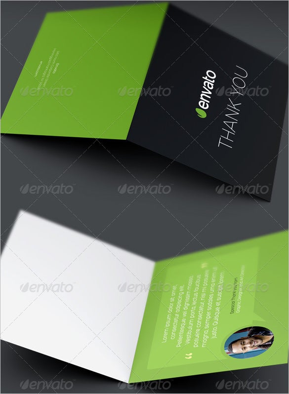fully corporate business thank you card template