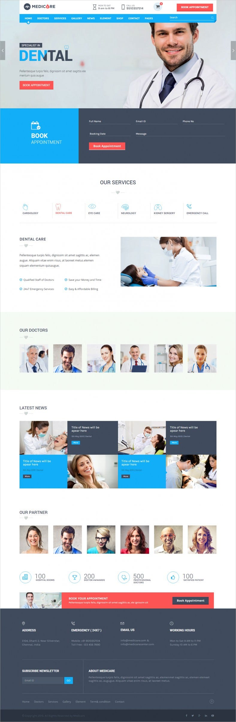 Fully Customizable Medical & Lab HTML Template