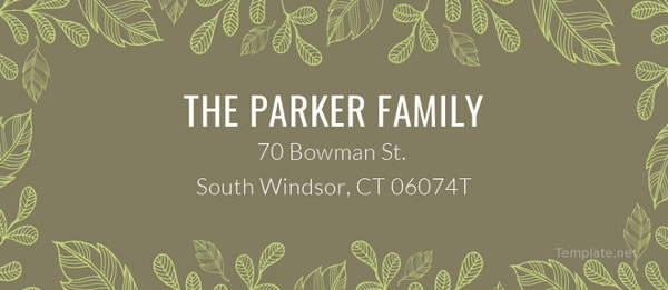 fully editable family address label template