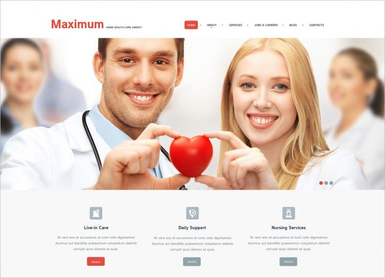 Fully Editable WordPress Template for Health Care