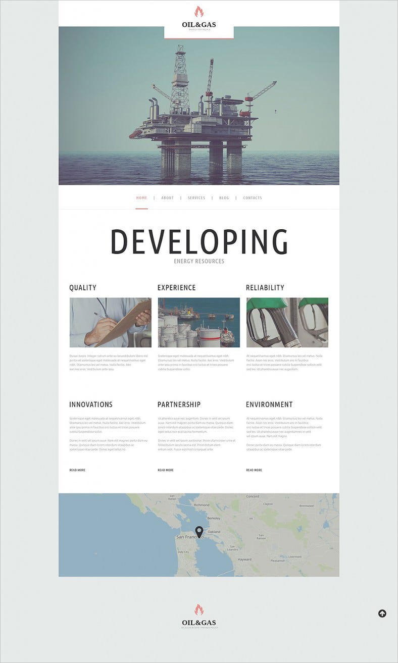 Fully Editable WordPress Theme for Oil Gas Company
