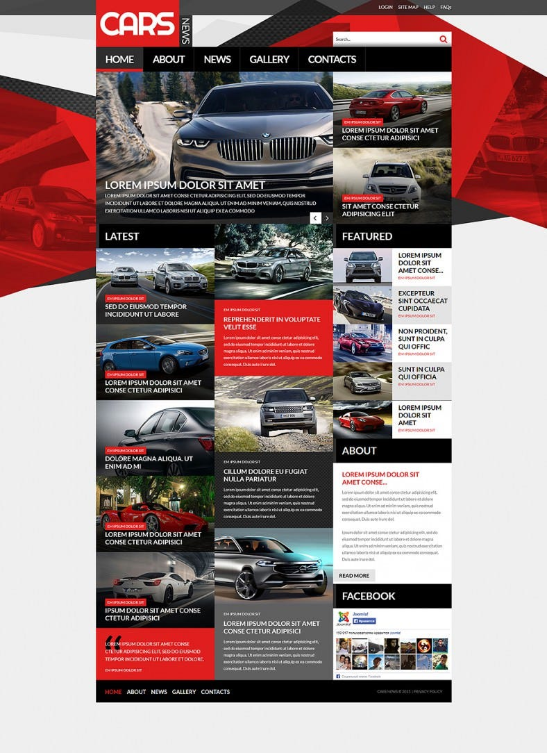 Fully Responsive Automobile Club Joomla Template