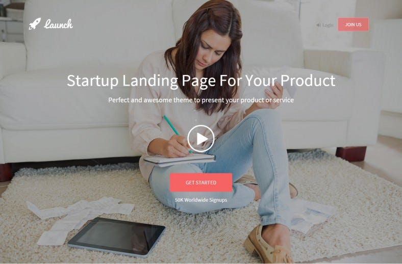 Fully Responsive Bootstrap Startup Landing Page