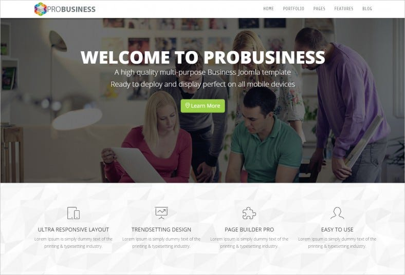 Fully Responsive Business Multi-Purpose Joomla Template