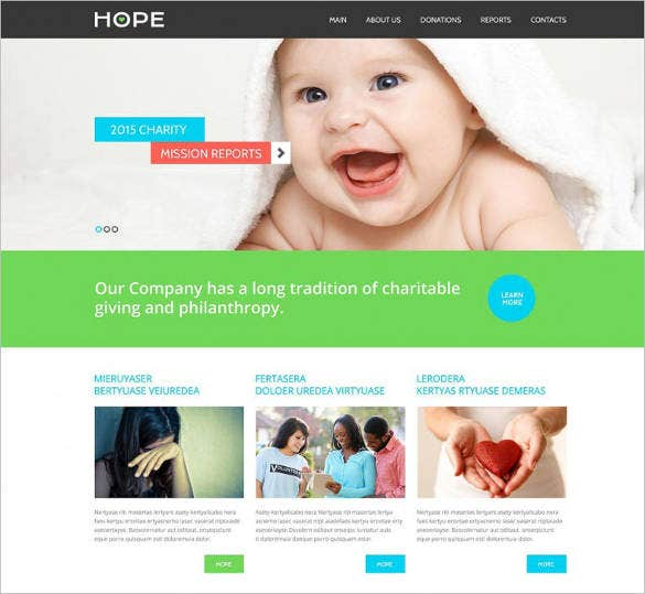 fully responsive charity website template1