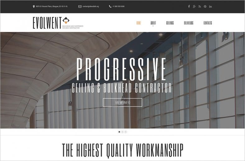 Fully Responsive Construction Company Website Template