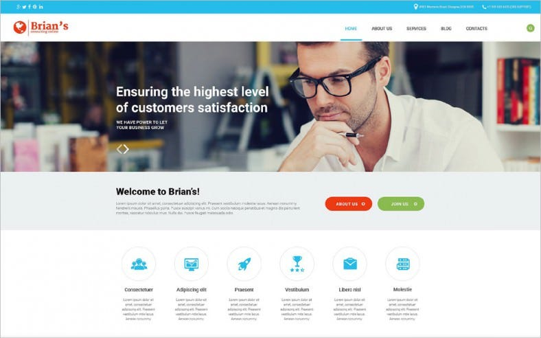 Fully Responsive Consulting Joomla Template