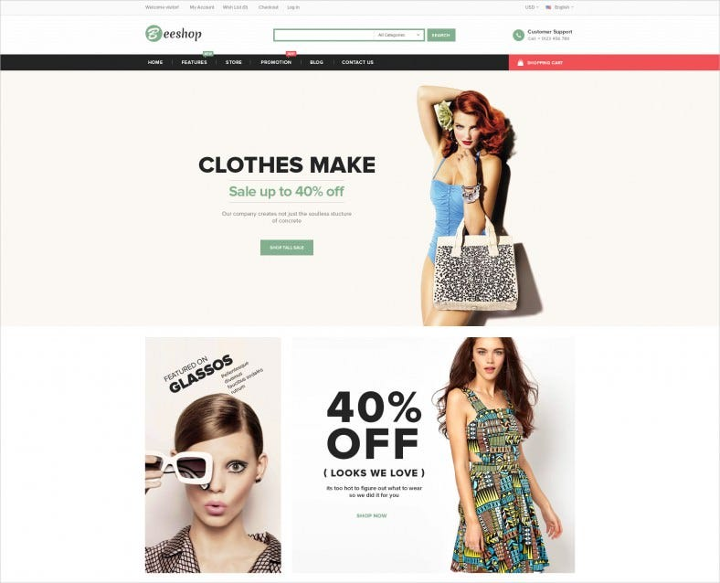 Fully Responsive Fashion eCommerce Opencart Theme
