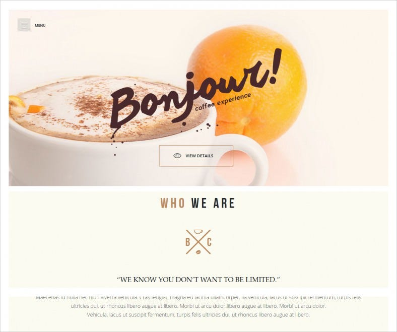 Fully Responsive HTML5 Cafe Template