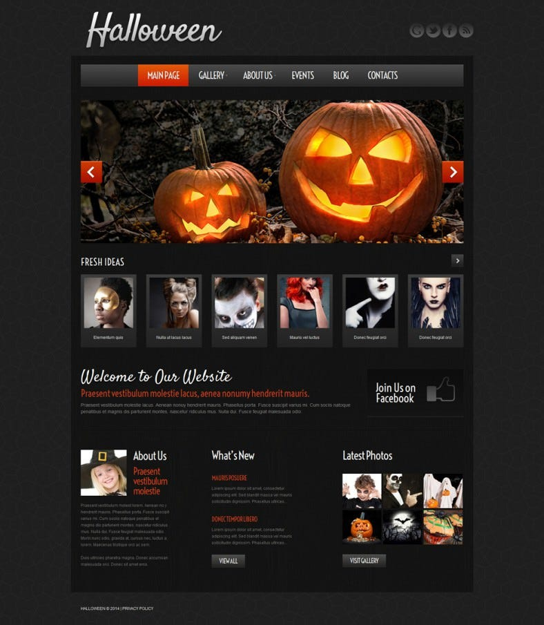 5 halloween website themes templates free premium templates
